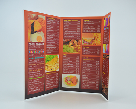 A3 Restaurant menu