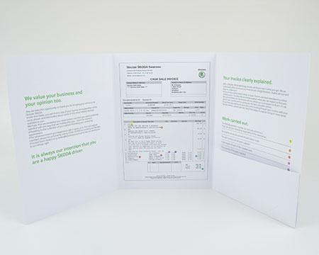 A4 6 panel pocket folders