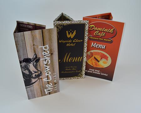A4 Restaurant menus