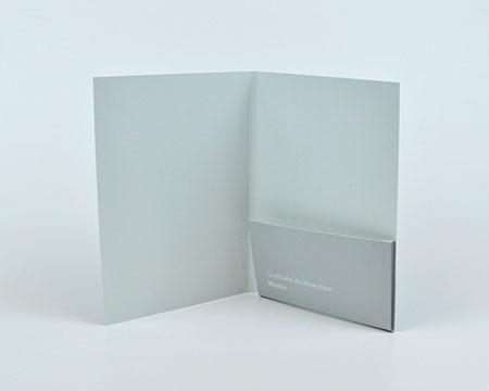 A5 single pocket folders